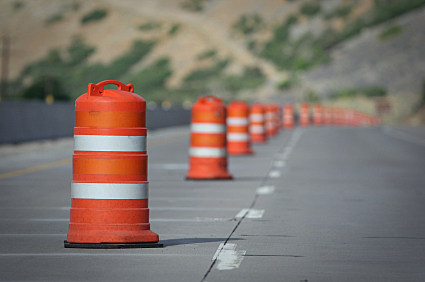 We'll be seeing even more of these highway cones starting Monday. tsm